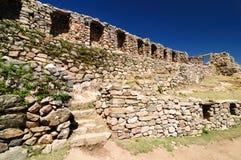Inca ruins, Isla del Sol, Titicaca lake, Bolivia Stock Image