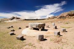 Inca ruins, Isla del Sol, Titicaca lake, Bolivia Stock Images