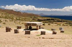 Inca ruins, Isla del Sol, Titicaca lake, Bolivia Stock Photos