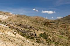 Inca ruins, Isla del Sol, Titicaca lake, Bolivia Royalty Free Stock Images