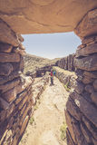 Inca ruins on Island of the Sun, Titicaca Lake, Bolivia Royalty Free Stock Images