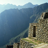 Inca ruins Machu Picchu. Inca ruins in terraces in the ancient city of Machu Picchu Royalty Free Stock Images