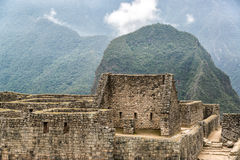 Inca Ruins at Machu Picchu Royalty Free Stock Images