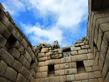 Inca ruins of Machu Picchu, Peru Royalty Free Stock Photos