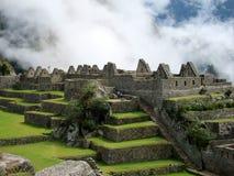 Inca ruins of Machu Picchu, Peru. Inca ruins of Machu Picchu, near Cuzco, Peru, in morning fog Stock Images