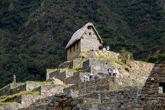 The Inca Ruins at Machu Picchu stock image