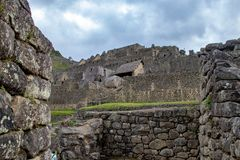 The Inca Ruins at Machu Picchu royalty free stock photography
