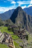 The Inca Ruins at Machu Picchu royalty free stock image