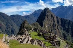 The Inca Ruins at Machu Picchu stock photo