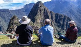 The Inca Ruins at Machu Picchu stock photography