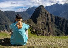 The Inca Ruins at Machu Picchu stock photos