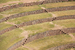 Inca ruins of Moray. Moray or Muray is an archaeological site in Peru approximately 50 km (31 mi) northwest of Cuzco. The site contains unusual Inca ruins Royalty Free Stock Photos