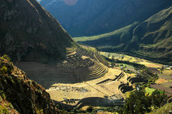 Inca Ruins and Mountains Stock Images