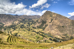 Inca ruins of Ollantaytambo Royalty Free Stock Image