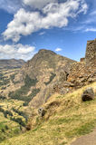 Inca ruins of Ollantaytambo Royalty Free Stock Photography