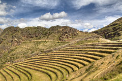 Inca ruins of Ollantaytambo Stock Photography