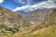 Inca ruins of Ollantaytambo Royalty Free Stock Photos