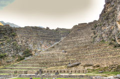 Inca ruins of Ollantaytambo Royalty Free Stock Images
