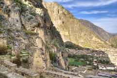 Inca ruins of Ollantaytambo Stock Photo