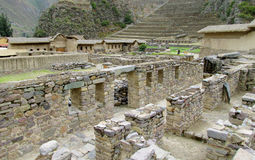 Inca ruins Ollantaytambo, Peru stock image