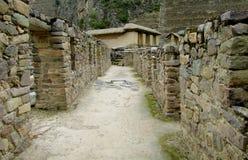Inca ruins Ollantaytambo, Peru stock photos
