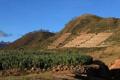 Inca Ruins in Ollantaytambo Peru Stock Photos