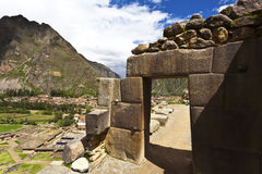 Inca ruins of Ollantaytambo - Sacred Valley - Peru Stock Photo