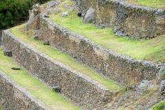 Inca ruins Ollantaytambo terraces, Peru Stock Photos
