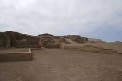 Inca Ruins in Pachacamac Stock Photos