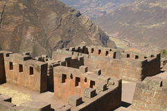Inca ruins in Pisac Royalty Free Stock Image