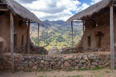 The Inca Ruins in Pisac stock images