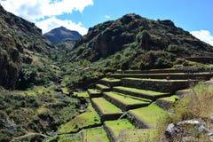 Inca ruins of Pisac, Peru Royalty Free Stock Image