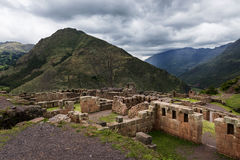 Inca Ruins in Pisac, Peru. View of Inca Ruins near the town of Pisac in the Sacred Valley, Peru Royalty Free Stock Photo