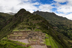 Inca Ruins in Pisac, Peru. View of Inca Ruins near the town of Pisac, in the Sacred Valley, Peru royalty free stock photos