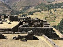Inca ruins at Pisac in the Sacred Valley, Peru Stock Photos