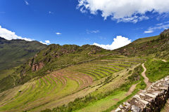Inca ruins of Pisaq, Sacred Valley in Peru, South America Stock Photo