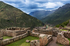 Inca Ruins près de Pisac, Pérou Photo stock