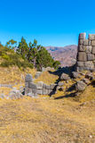 Inca Ruins - Saqsaywaman, Peru, South America. Archaeological complex, Cuzco. Example of polygonal masonry Stock Photos