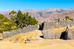 Inca Ruins - Saqsaywaman, Peru, South America. Archaeological complex, Cuzco. Example of polygonal masonry Royalty Free Stock Image