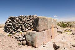 Inca ruins in Sillustani, Titicaca lake, Peru Royalty Free Stock Image