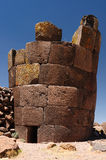 Inca ruins in Sillustani, Titicaca lake, Peru Stock Photo