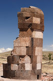 Inca ruins in Sillustani, Titicaca lake, Peru Stock Photography