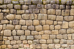 Inca Ruins Wall Built Without Mortar Stock Image