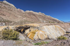 The Inca's Bridge in Mendoza, Argentina. Stock Photography