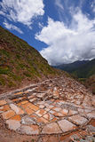 Inca salt farm Royalty Free Stock Photo