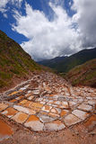 Inca salt farm Royalty Free Stock Photography