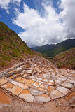 Inca salt farm Royalty Free Stock Images