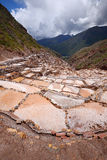 Inca salt farm Stock Photos
