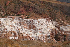 Inca Salt pans at Maras, Peru Royalty Free Stock Photo