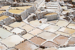 Inca Salt pans at Maras, Peru Stock Photos